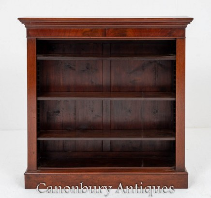 Victorian Open Bookcase - Antique Circa 1860