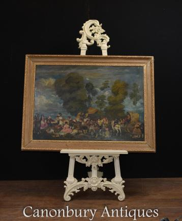 Victorian Painted Artists Easel Art Stand