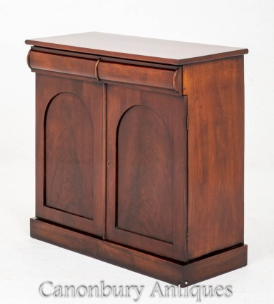 Victorian Side Cabinet Mahogany Antiques 1850