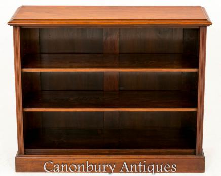 Victorian Walnut Open Front Bookcase 1870