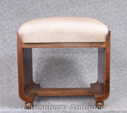 Vintage Art Deco Stool Seat