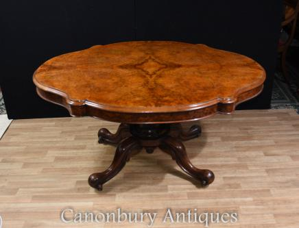 Walnut Victorian Centre Table Loo Tables