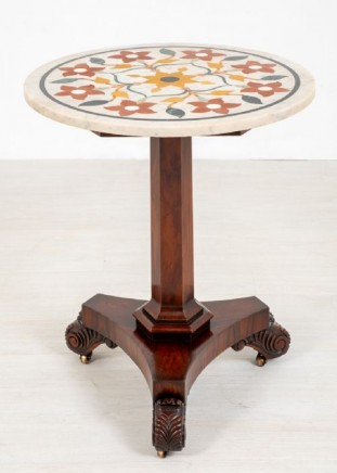 William IV Antique Side Table Marble Top 1900