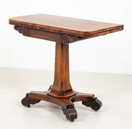 William IV Card Table - Antique Rosewood Games Tables