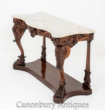 William IV Console Table - Antique Carved 19th Century