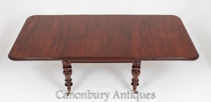 William IV Dining Table Mahogany Extending Antique 19th Century