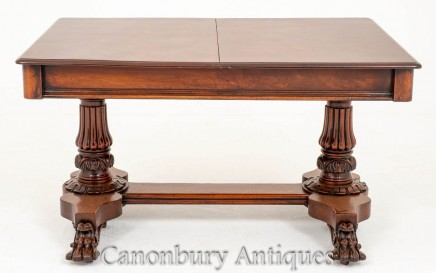 William IV Extending Dining Table Antique Mahogany