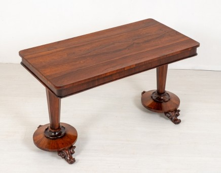 William IV Stretcher Table - Antique Rosewood Hall Tables