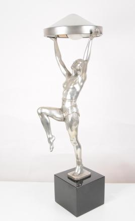 Art Deco Bronze Danseuse Table Lamp Figurine Dancer Girl Light