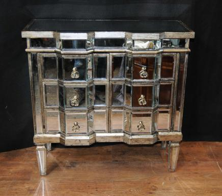 Art Deco Mirror Chest Drawers Mirrored Furniture Chests Cabinet - Mirrored Furniture - Mirrored Desks, Chests, Table