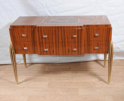 Art Deco Sideboard Buffet Server Chest Drawers Inlay Furniture