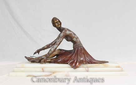 Bronze Chiparus Art Deco Figurine Tanara Dancer