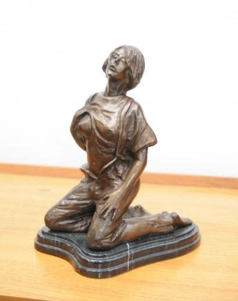 Bronze Erotic Female Figurine Statue Sexy Lady