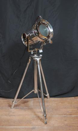 Chrome Tripod Spot Light Floor Lamp Tall Light Architectural Interiors
