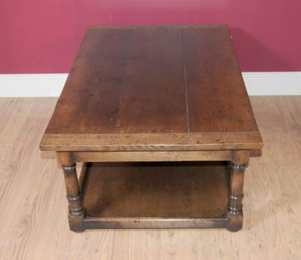 Country Oak Oblong Coffee Table Farmhouse