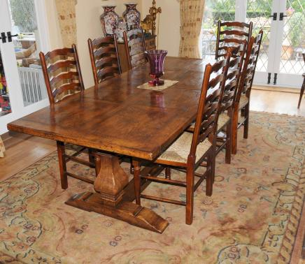 Beau Refectory Table And Ladderback Chair Dining Set
