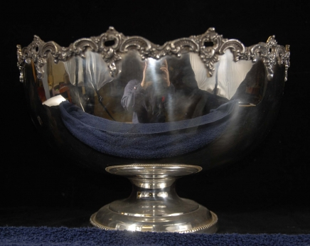 English Silverplate Silver Plate Punch Bowl