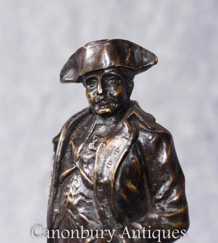 French Bronze Male Figurine Signed Boucher Soldier Military