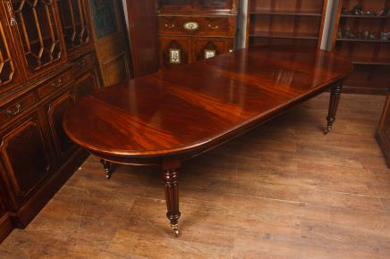 Mahogany Victorian Dining Table   Large Extending 10ft 300 CM