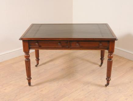 Mahogany William IV Writing Table Desk Furniture Bureau