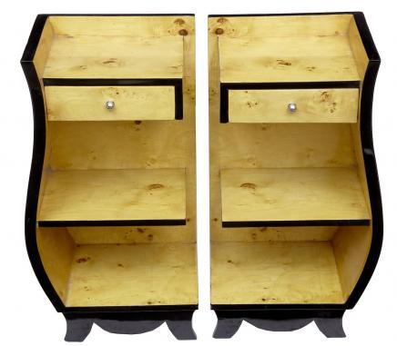 Pair Art Deco Bedside Cabinets Cabinets Nightstands Furniture