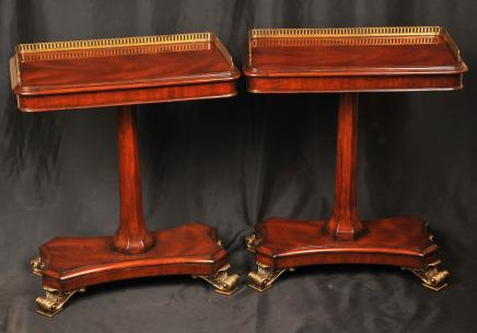 Pair Regency Mahogany Occassional Side Tables