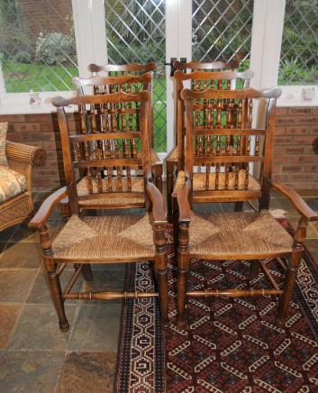 Set 6 Spindleback Kitchen Dining Chairs Spindle