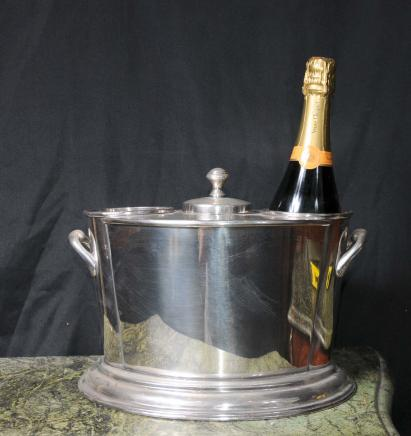 Silver Plate Wine Champagne Cooler Bucket