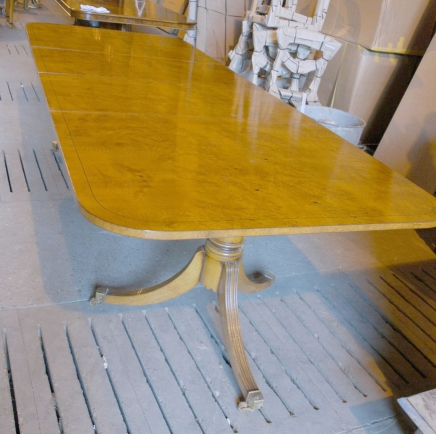 Ten foot Biedermeier Extending Dining Table
