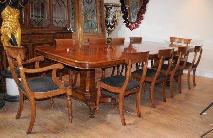 150f474018999 Walnut Regency Dining Table   Chairs Set Suite