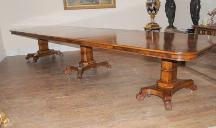 Walnut Regency Extending Dining Table 14 ft Diner & Dining Tables