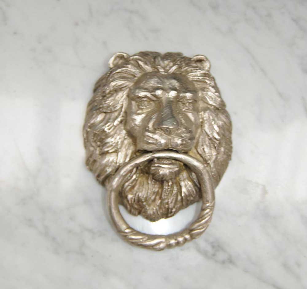 Bronze lions head door knocker casting lion - Lion face door knocker ...