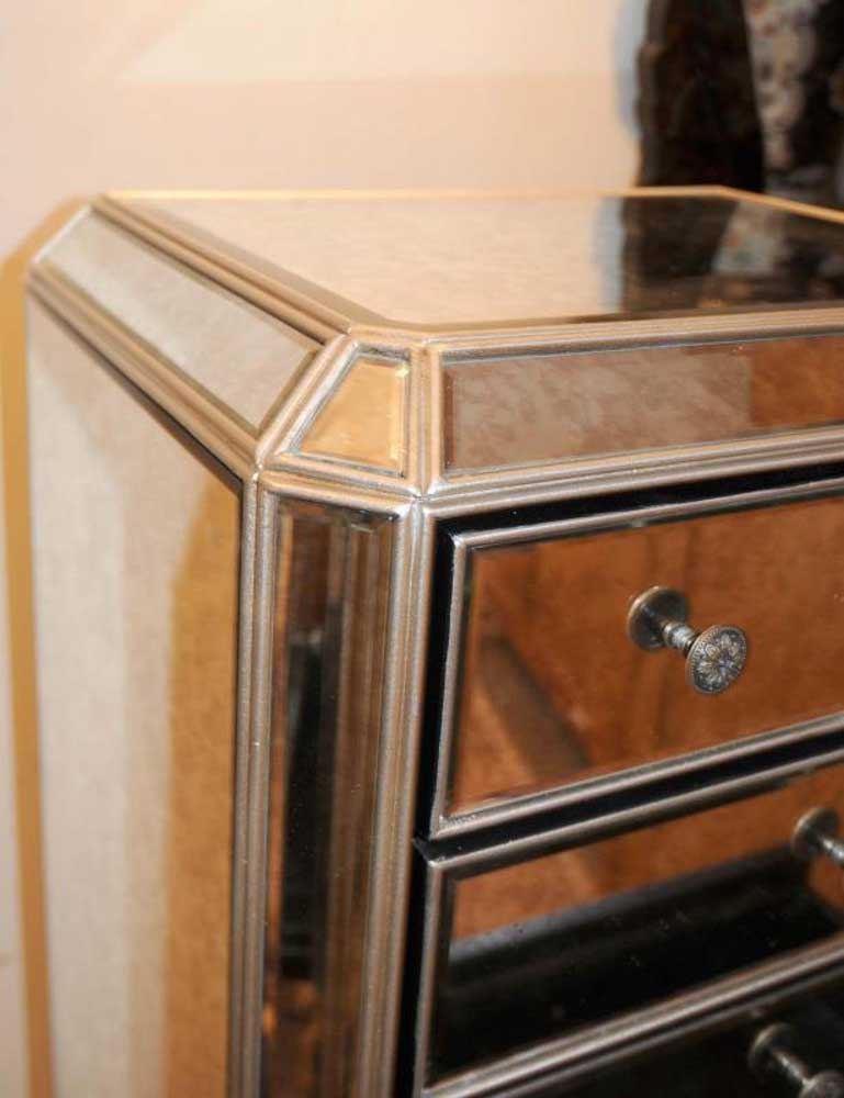 mirrored chest of drawers tall boy commode. Black Bedroom Furniture Sets. Home Design Ideas