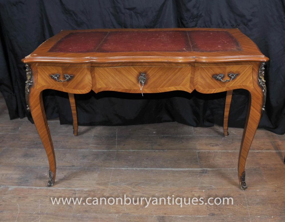 Categories - Antique French Empire Bureau Plat Writing Table Extending Desk EBay