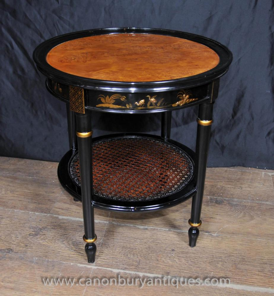 Black Lacquer Coffee Table Uk: French Black Lacquer Low Side Table Chinoiserie Tables