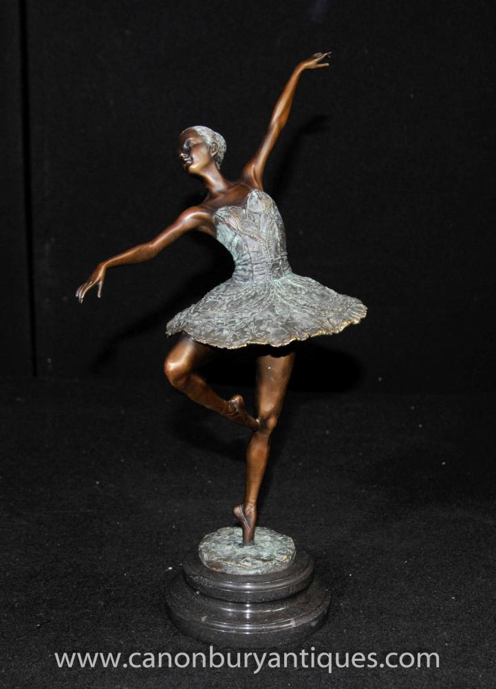 French Bronze Ballet Statue Figurine by Degas Ballerina