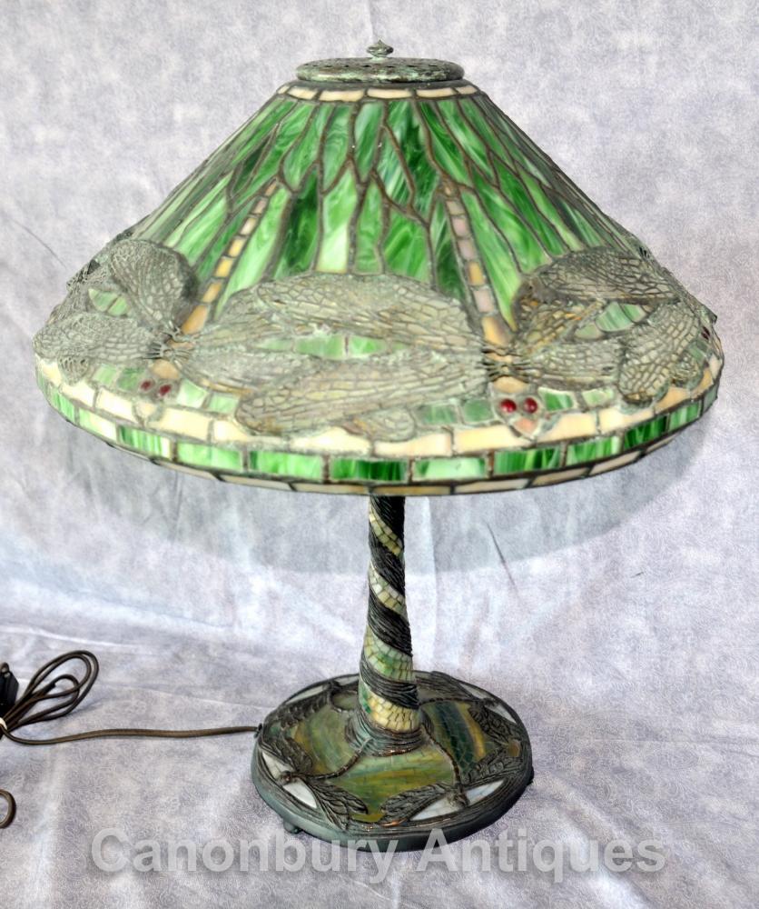 Tiffany Flying Dragonfly Table Lamp