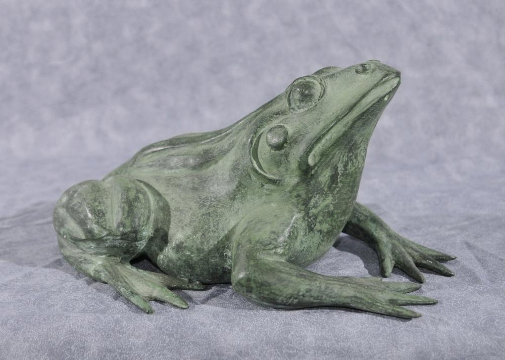 French Bronze Frog Fountain Toad Garden Sculpture Statue