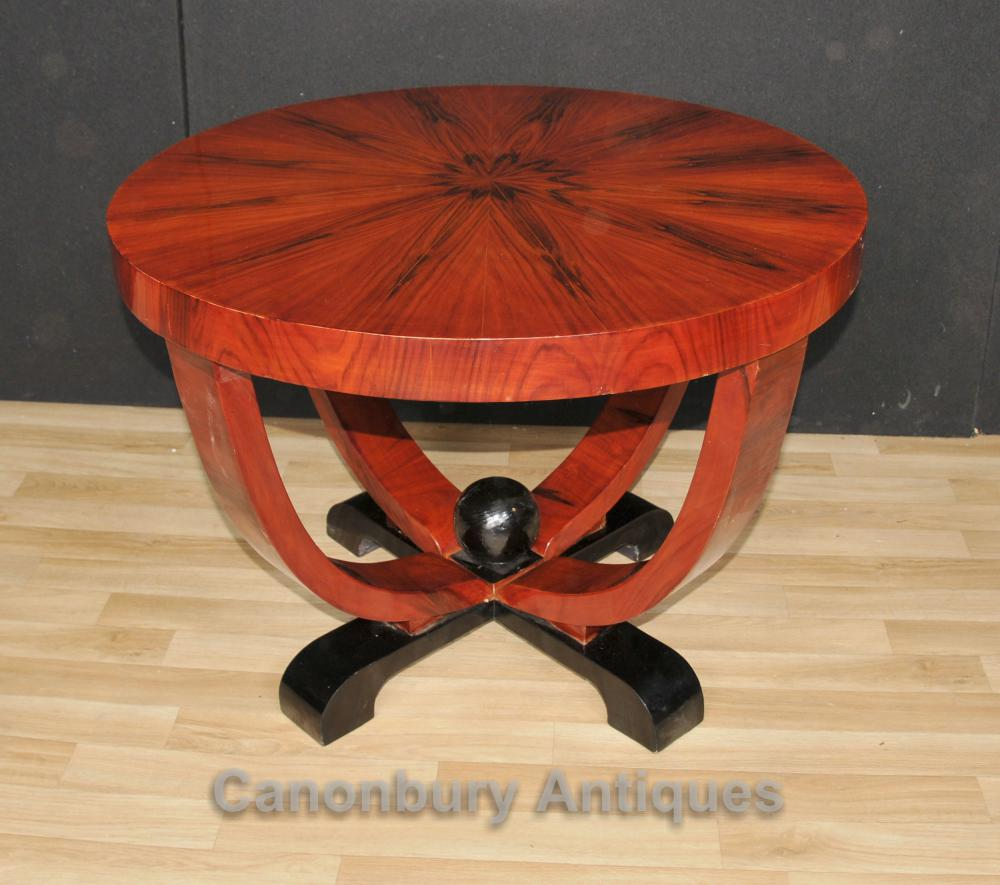Art Deco Round Side Table Rosewood Coffee Tables Vintage