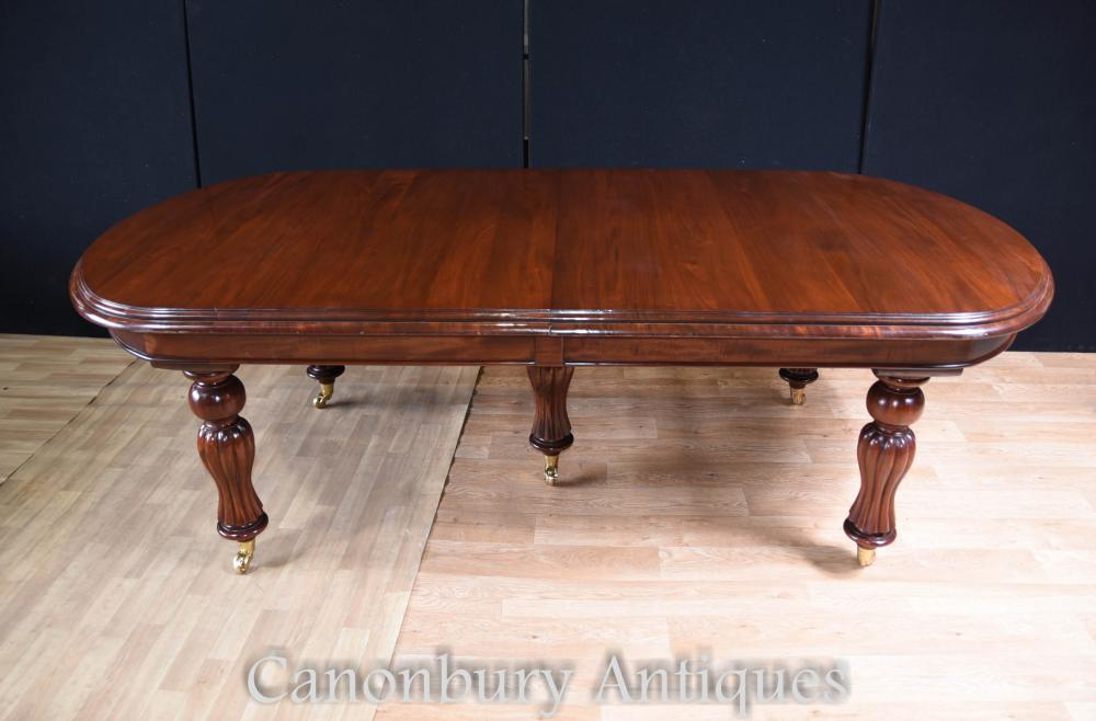 Victorian dining table and set hepplewhite chairs mahogany set for Edwardian table setting
