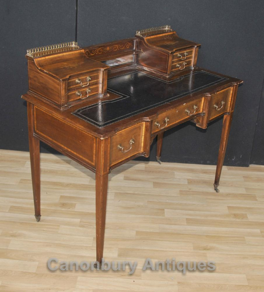 Antique Edwardian Carlton House Desk Writing Table 1910