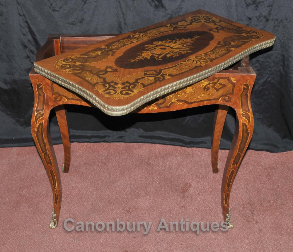 french louis xvi console games table chess board inlay. Black Bedroom Furniture Sets. Home Design Ideas