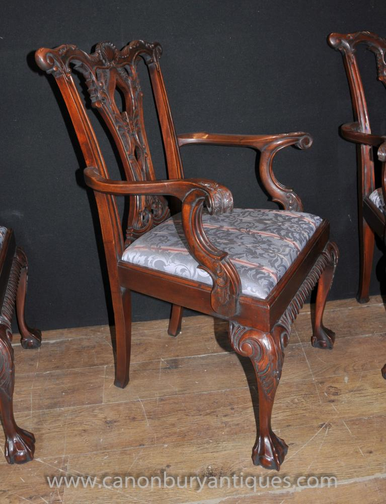 Set 12 Chippendale Mahogany Arm Chairs Dining Chair Ball  :  Set 12 Chippendale Mahogany Arm Chairs Dining Chair Ball and Claw Feet 1448166587 product 31 from www.ebay.co.uk size 767 x 1000 jpeg 107kB