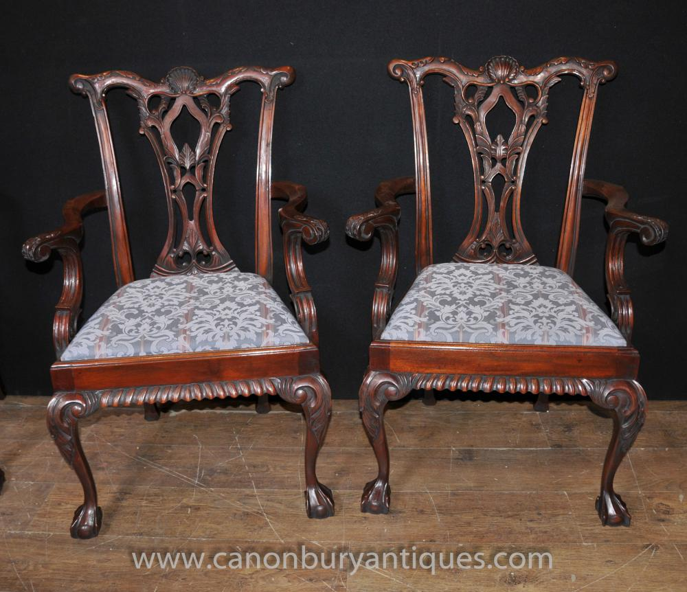 Set 12 Chippendale Mahogany Arm Chairs Dining Chair Ball  :  Set 12 Chippendale Mahogany Arm Chairs Dining Chair Ball and Claw Feet 1448166587 product 41 from canonburyantiques.com size 1000 x 862 jpeg 123kB