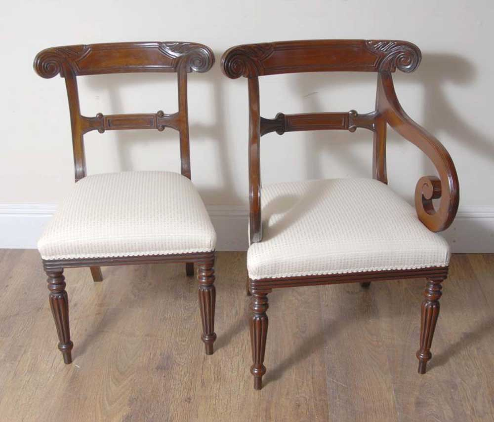 10 english william iv dining chairs regency chair for 10 chair dining table