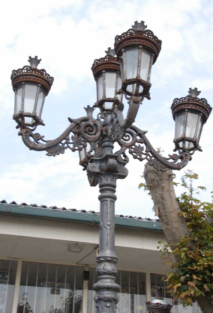 10 Foot English Victorian Cast Iron Lamp Post