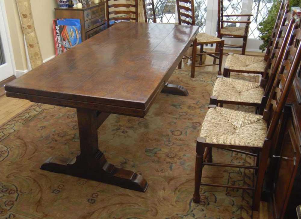 10 ft english oak farmhouse table farmhouse extender for 10 ft dining table sale