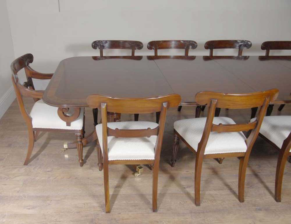 10 ft english regency dining table set 10 chairs chair for 10ft dining table