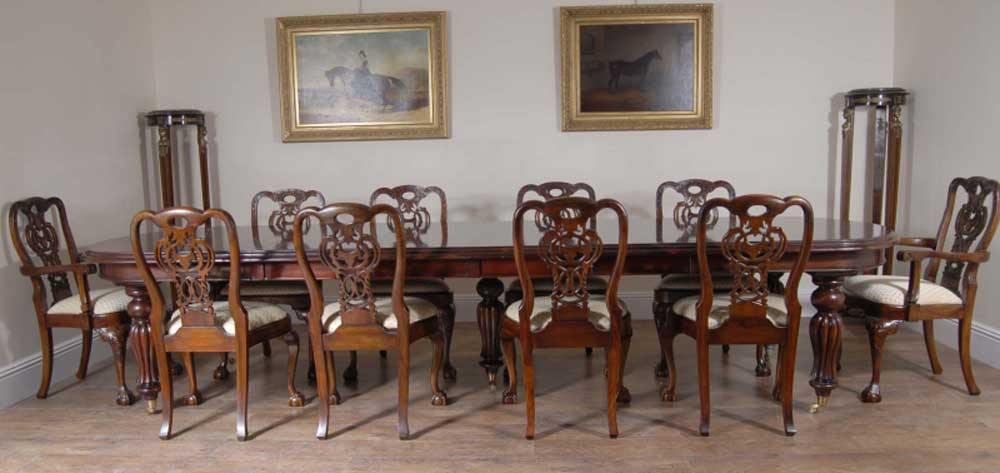 Mahogany Dining Set   George II Chairs And Extending Victorian Table | EBay