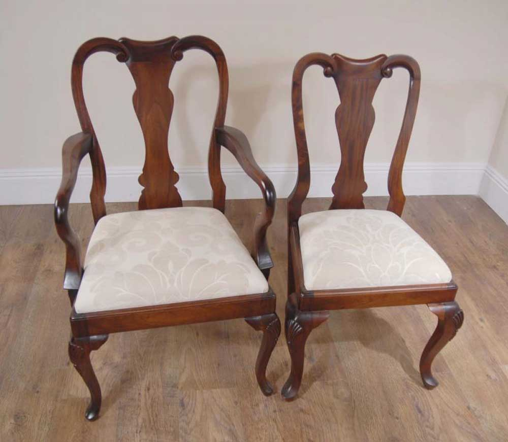 Queen Anne Dining Room Chairs: 10 Mahogany English Queen Anne Dining Chairs Chair